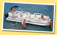 Panama City Pontoon Boat Rentals in the Gulf
