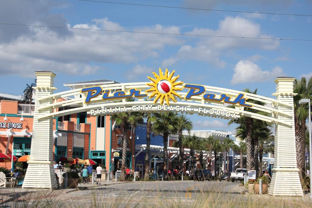 The Sign Arching Over The Pier Park Entrance Panama City Beach Just Celebrated Its Th Annual Christmas