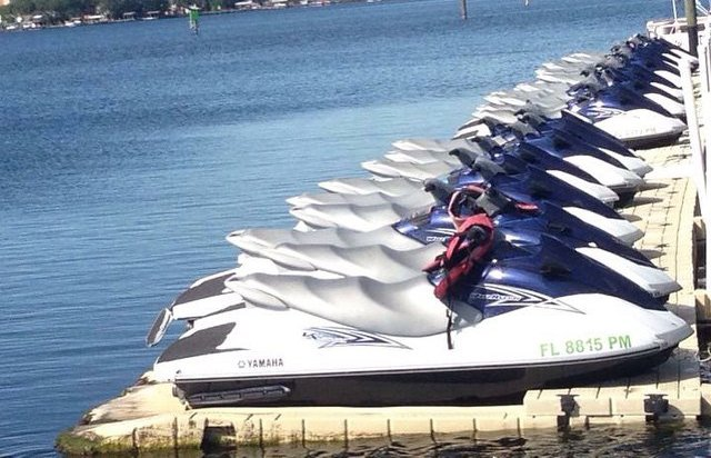 pick up your jet ski on the beach panama city
