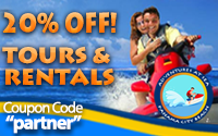 Save 20% on tours and jet ski rentals
